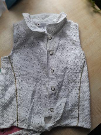 Koronkowa koszula biała 116