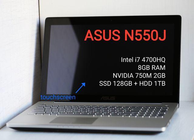 ASUS N550JV в хорошем состоянии! Полный комплект