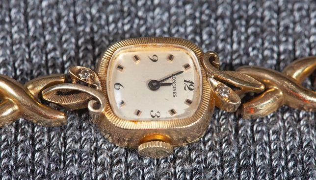 часы золотые антикварные longines женские с бриллиантами