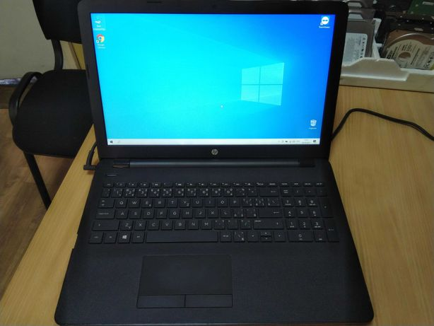 Ноутбук для работы и учёбы HP Laptop 15, 4-cores APU, SSD 120, DDR4 4g