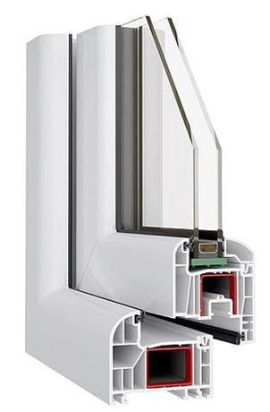 OKNO PCV 865X1400 TRIUMPH, 6-komorowe, 80 mm, typowe w 48 godzin !!