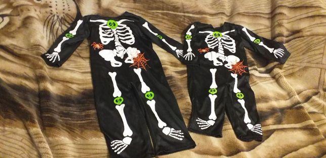Костюмы скелета на Хеллоуин на 9-12 мес.( 74-80 см) и 1-2 года ( 80-92