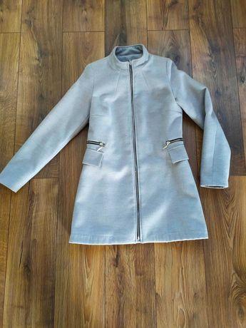 Płaszcz damski na zasuwak jesień  zima szary S M