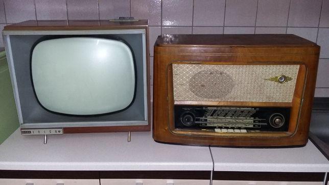 Telewizor i radio PRL diora komplet