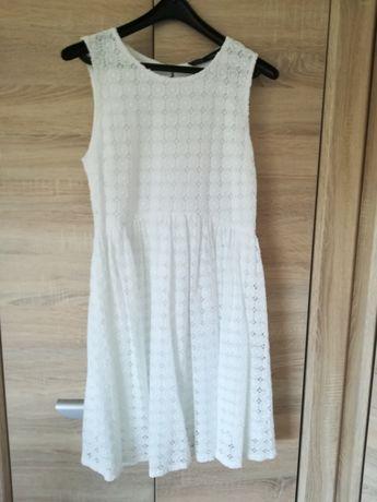 Zara sukienka koronka gipiura S