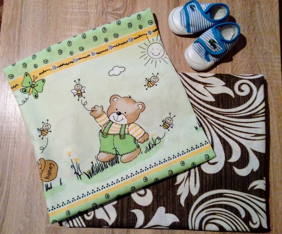 Простынь на резинке  ( в детские кроватки)