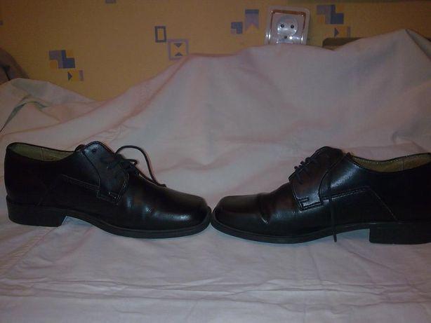 Туфли школьные для мальчика-кожа-Ambra- Польша-35 цена снижена