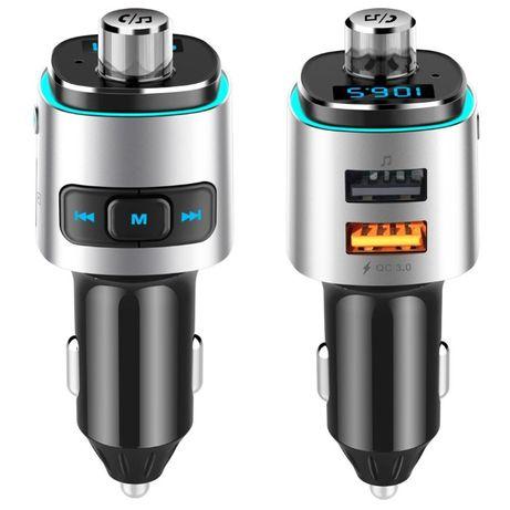 ФМ модулятор QC3.0 / FM трансмиттер/Bluetooth V4.2+EDR / 2 x USB