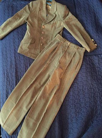 zielony kostium marynarka i spodnie 38