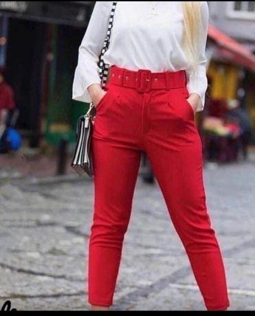 Штаны женские красные
