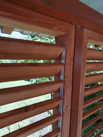 Żaluzje tarasowe, rolety do altany, drewniane z regulacją- Producent