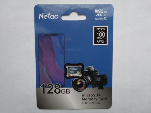 Netac Micro SD карта памяти класс 10,TF карта 128 ГБ.