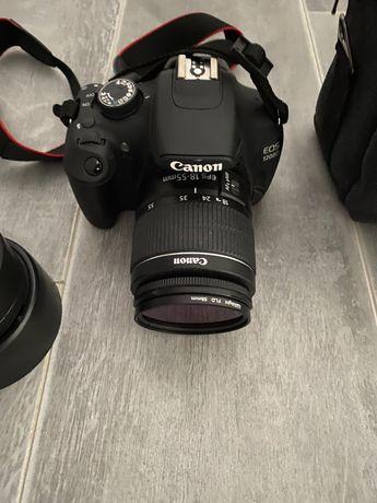 Canon EOS 1200D obiektywy torba karta sd