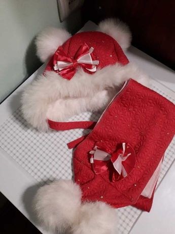 Комплект шапочка + шарф