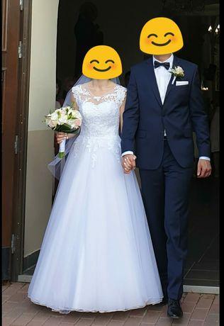 Suknia ślubna - rozmiar 38