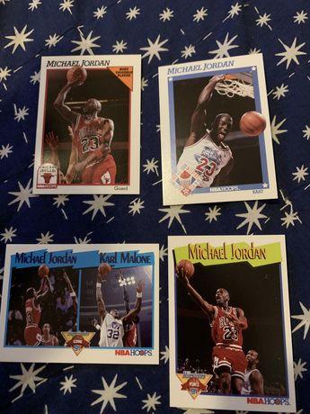 Cartas NBA Hoops 91-92 Michael Jordan, Bird, Magic outros