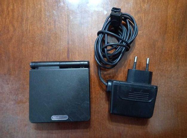 Game Boy SP Black Edition + Carregador Oficial (Gameboy)