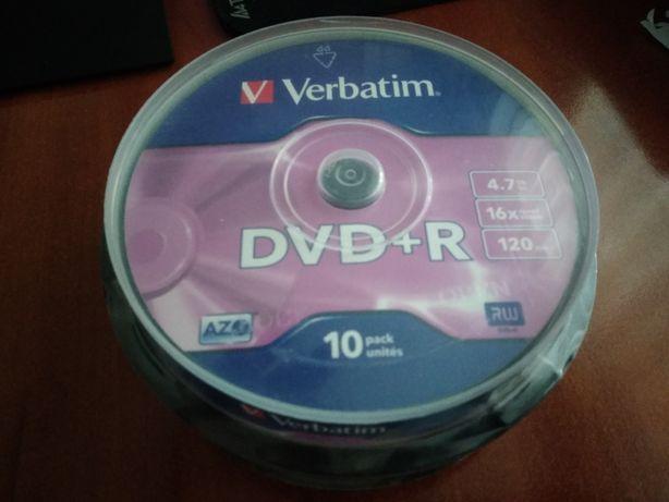 Новые, запечатанные диски DVD+R Verbatim 4.7Gb 16X
