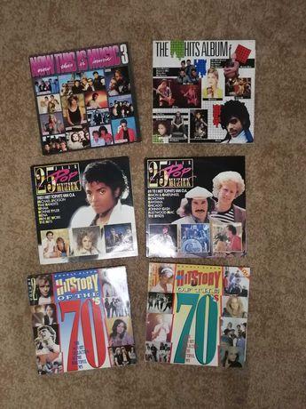 Голландский винил, 6 двойных альбомов сборники хиты 70-х, 80-х (12 LP)