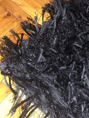 Tapete / carpete de pelo alto preto 160 x 230 cm