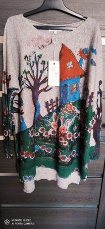 Sweterek Nowy w domki
