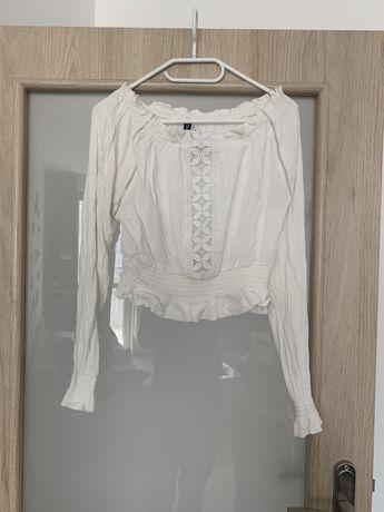 Bluzka hiszpanka ramiona odkryte koronka