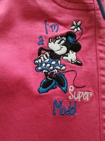 Piękne spodnie z Myszką Minnie, C&A, r. 110. NOWE