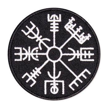 """Vegvisir """"bússola"""" Viking - emblema bordado novo"""