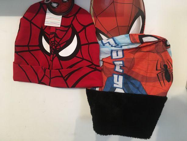 Czapka i komin spiderman dla chlopca Nowy zestaw prezent