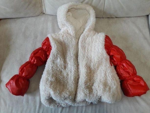 Курточка куртка демисезонная для девочки осення 100см 110см шуба пальт
