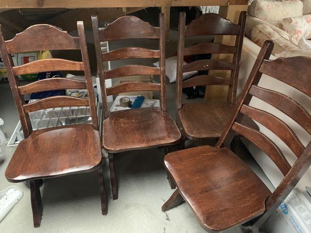 Masywne krzesła holenderskie 4szt