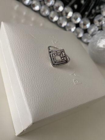Pandora roz 58 oryginalny pierscionek cyrkonie