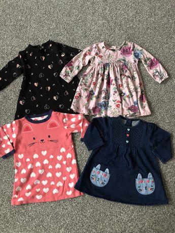 Sukienki dla dziewczynki 6-9 mcy