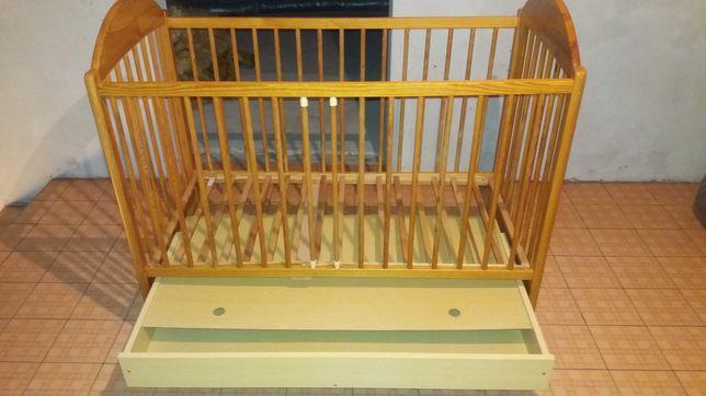 Łóżeczko niemowlęce Drewex z szufladą 120x60