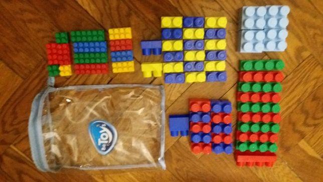 Klocki typu Lego Duplo i klocki drewniane