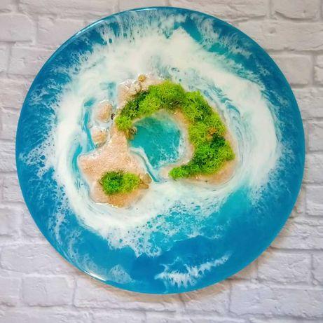Картина 3D  остров Вилла - Франка из эпоксидной смолы