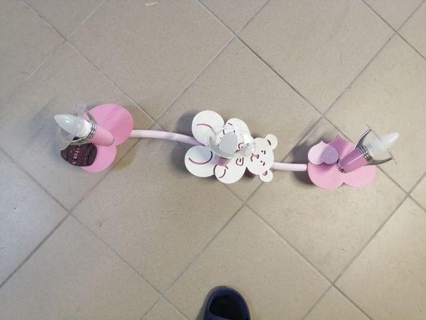Lampa sufitowa dla dziewczynki