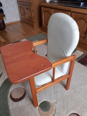 Krzesełko drewniane do karmienia+stolik Super Stan!