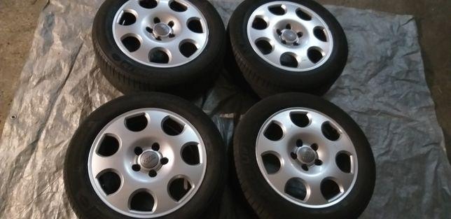 4 oryginalne felgi Audi Speedline 16 cali z oponami Cena za 4szt 5x112