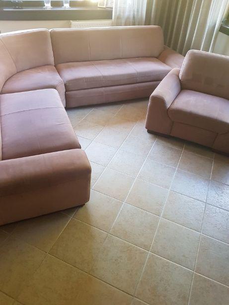 Sofa narożnik z funkcją spania + fotel
