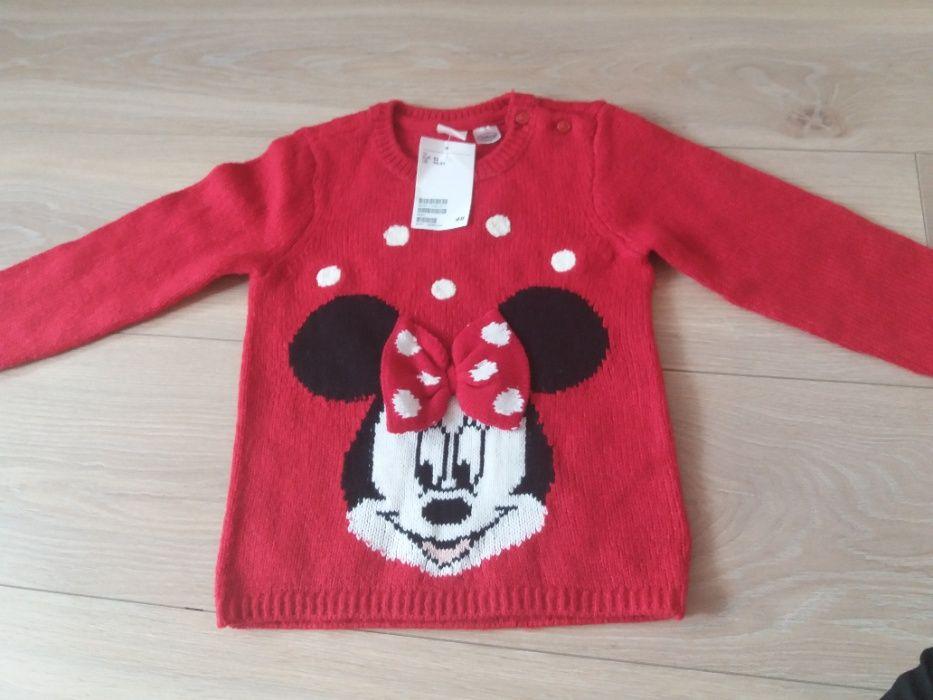 nowy sliczny sweter minnie h&m rozm 92 Kielce - image 1