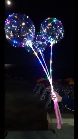Шары бобо со светодиодами/гирляндой. Bobo светящиеся шарики