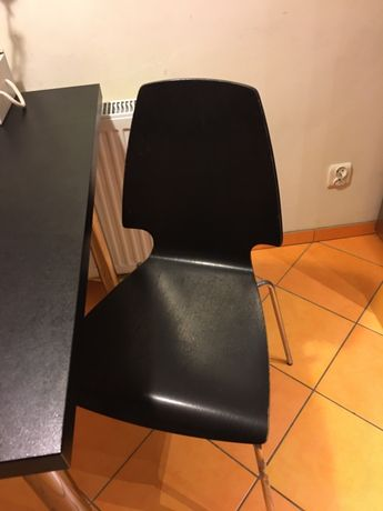 Nowoczesne krzeslo ikea czarne, do toaletka, biurko, kuchnia.polecam