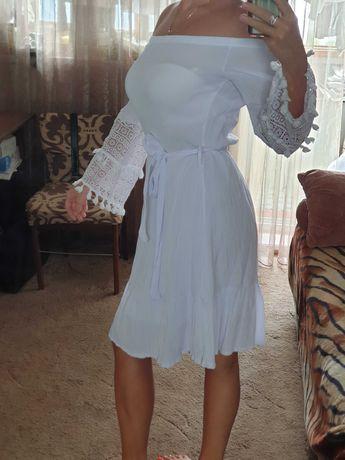 Платье белое турция
