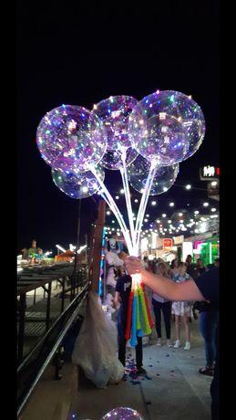 Шары бобо, светящиеся шарики, шарик на палке