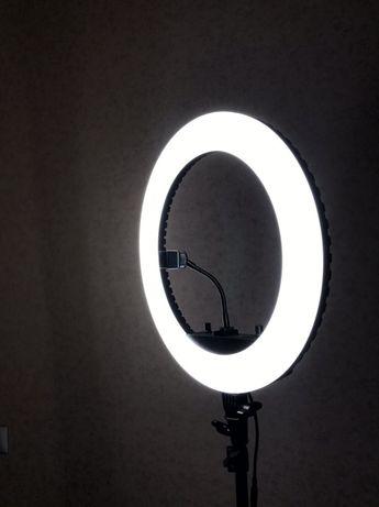 Кольцевая лампа HQ-18n 45см+штатив+пульт