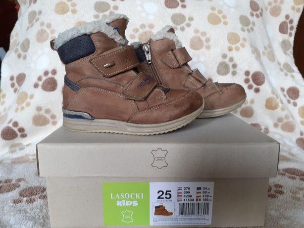 Buty chłopięce, zimowe, Lasocki Kids, rozm 25