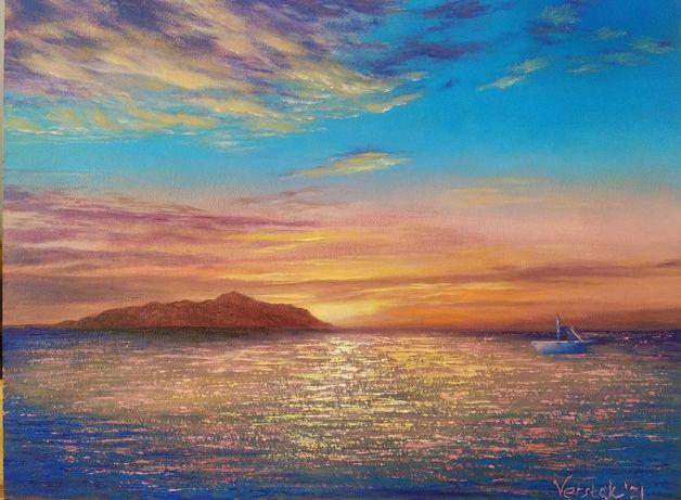 Картина маслом Остров Тиран, Египет