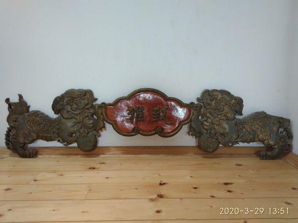 Chińska płaskorzeźba, rzeźba 130×35