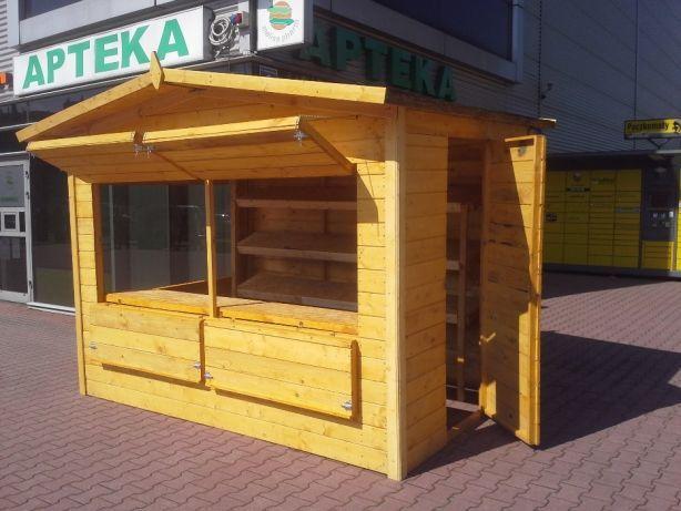 Domek drewniany Handlowy punkt do sprzedaży truskawek, warzyw, owoców